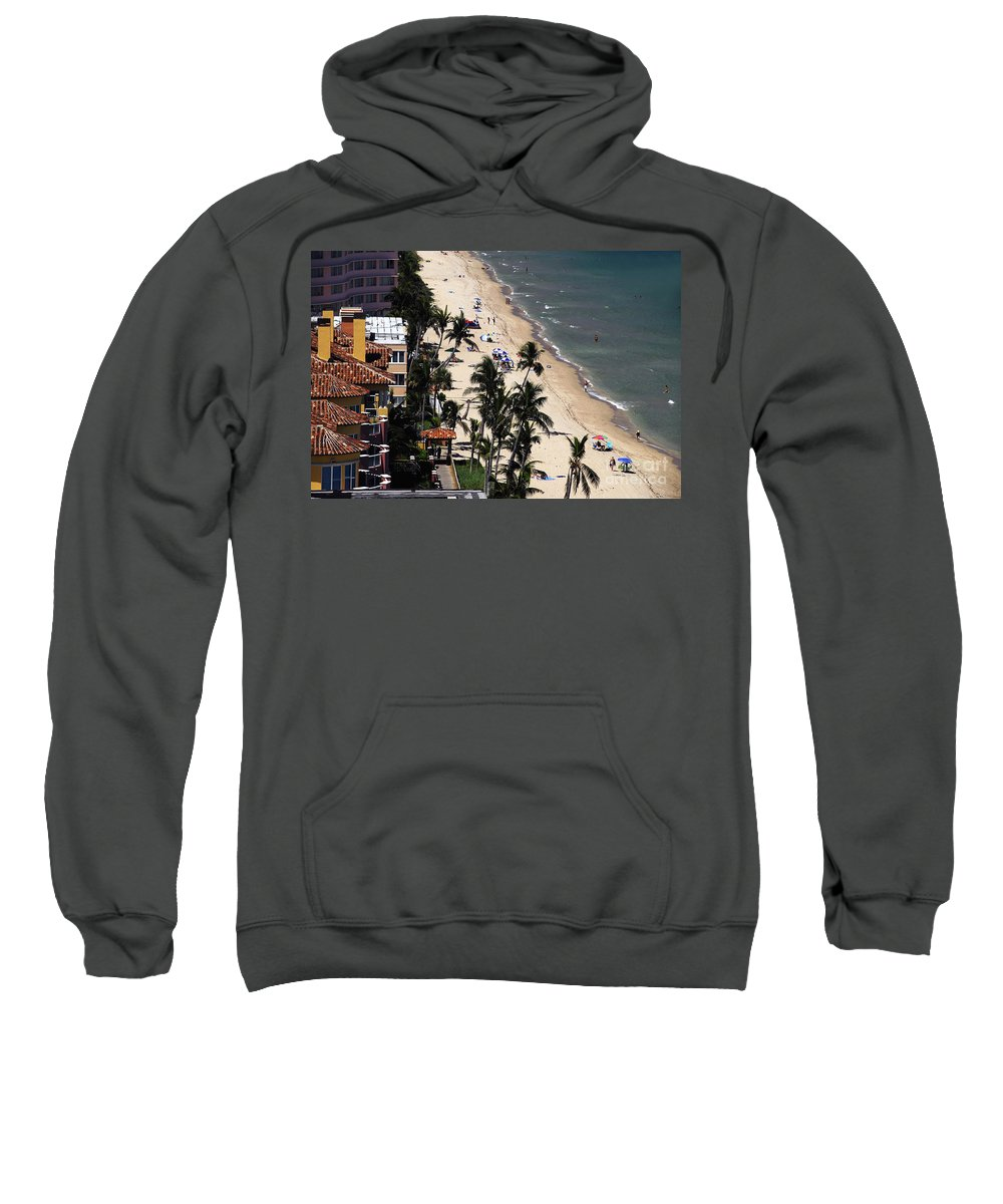 Beach Sweatshirt featuring the photograph Beach Scene by David Lee Thompson