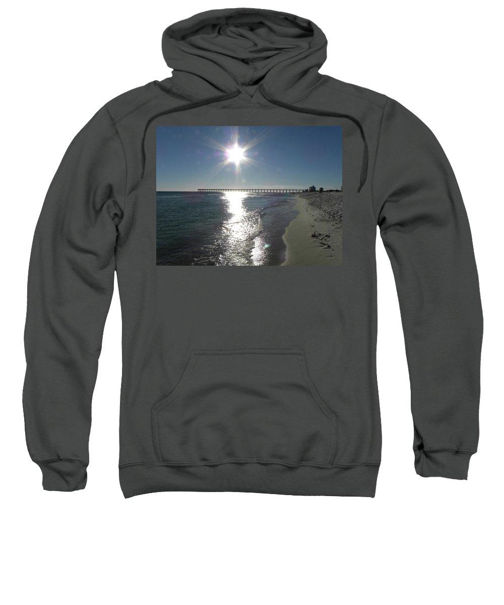 Pier Sweatshirt featuring the photograph Beach Scene by Shannon Turek