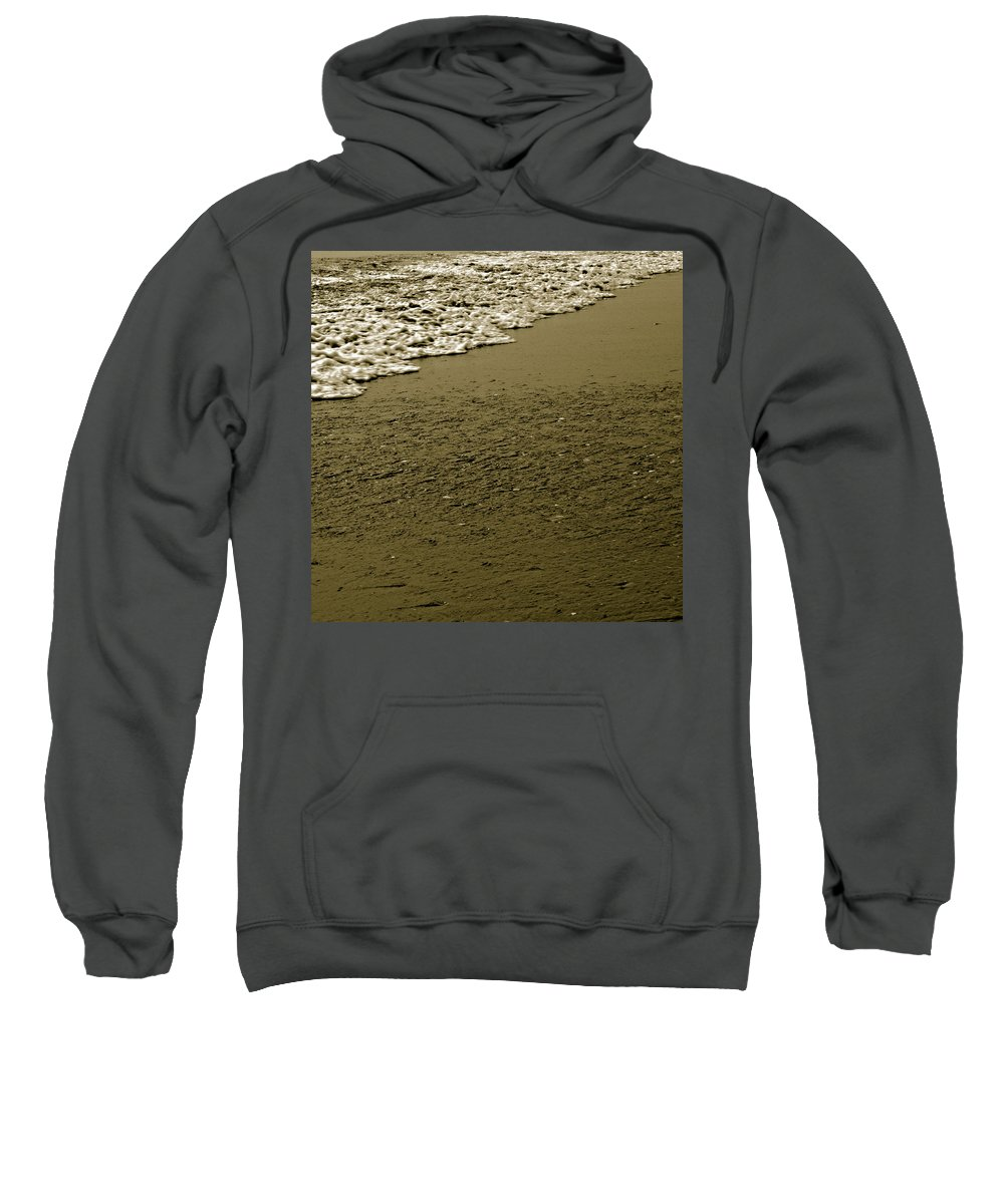 Water Sweatshirt featuring the photograph Beach Texture by Jean Macaluso
