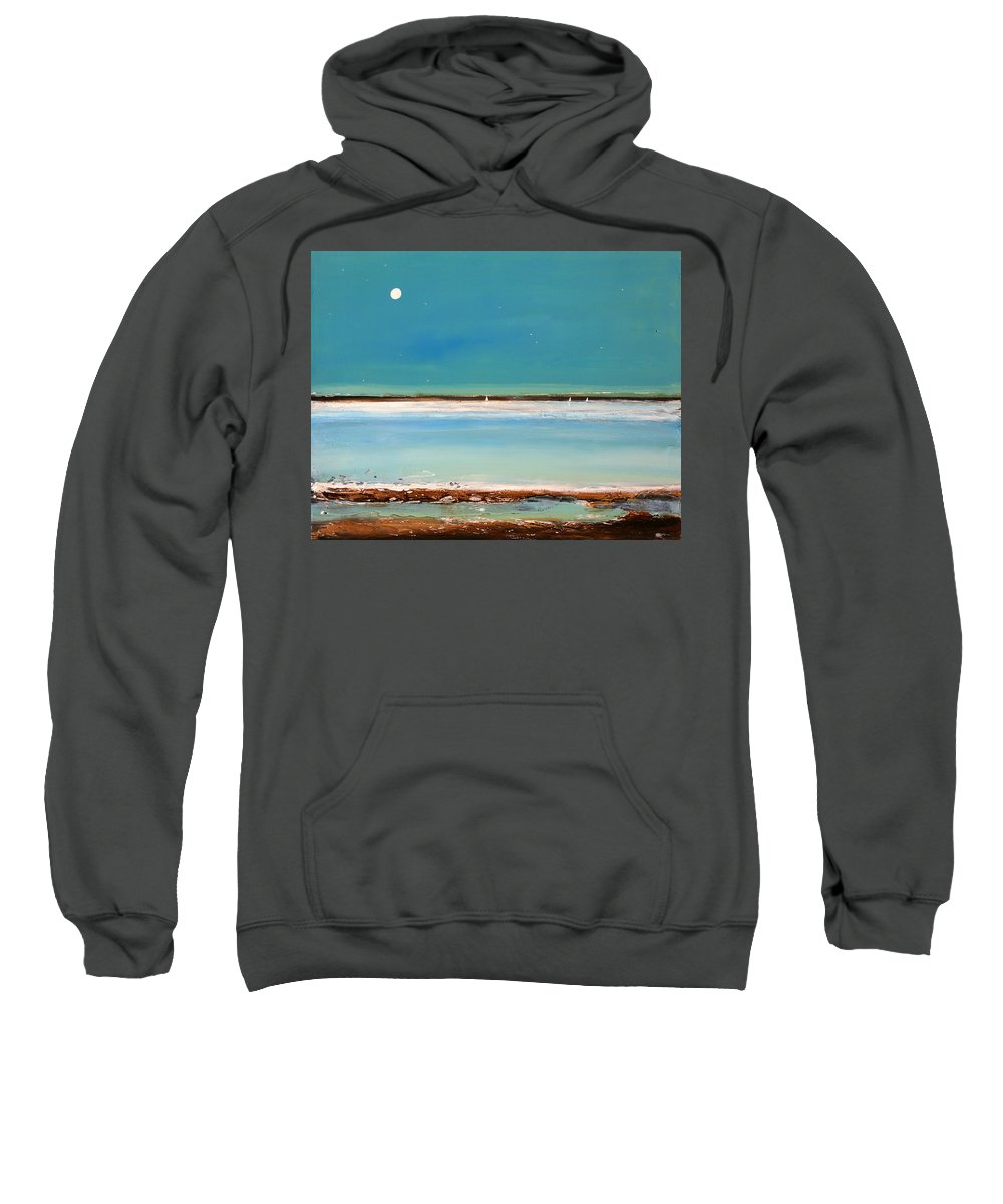 Landscape Sweatshirt featuring the painting Beach Textures by Toni Grote