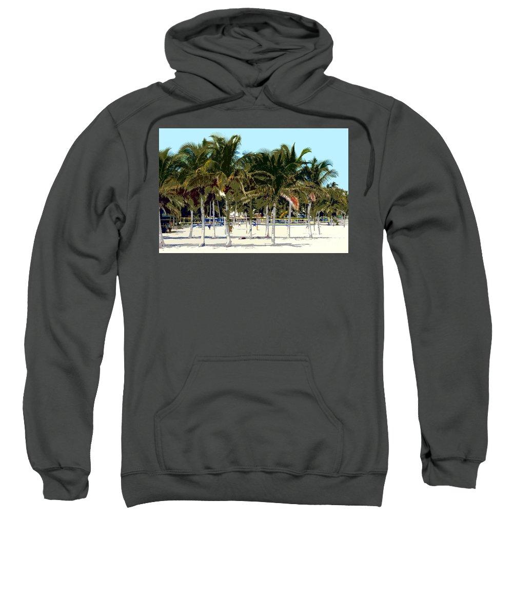 Beach Sweatshirt featuring the photograph Beach Volleyball by David Lee Thompson