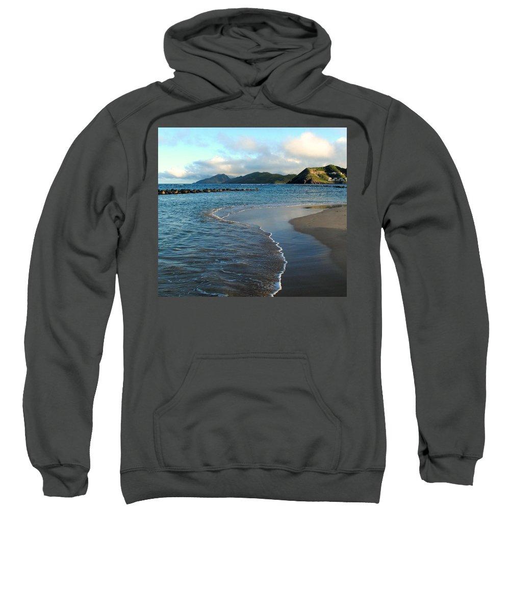St Kitts Sweatshirt featuring the photograph Beach Walk by Ian MacDonald