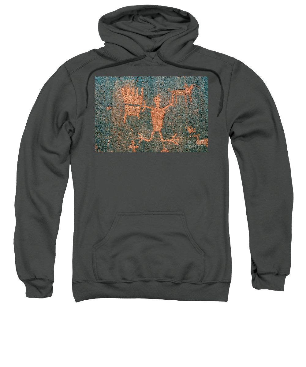 Ute Sweatshirt featuring the photograph Bear Clan Horse Rider by David Lee Thompson
