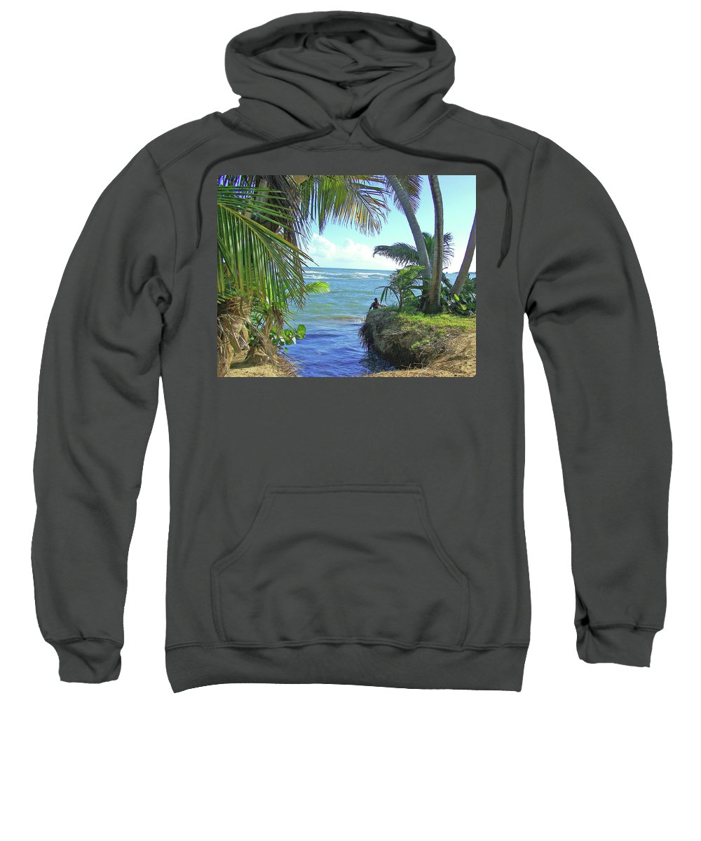 Puerto Rico Sweatshirt featuring the photograph Beautiful Waters Of Puerto Rico by Marilyn Holkham