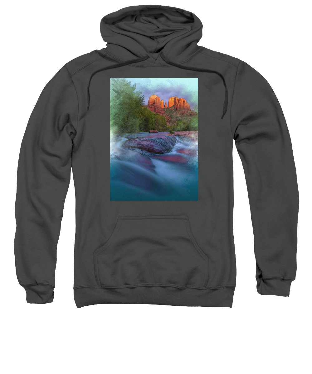 Decoration Sweatshirt featuring the digital art Beauty From Afar by Don Kuing