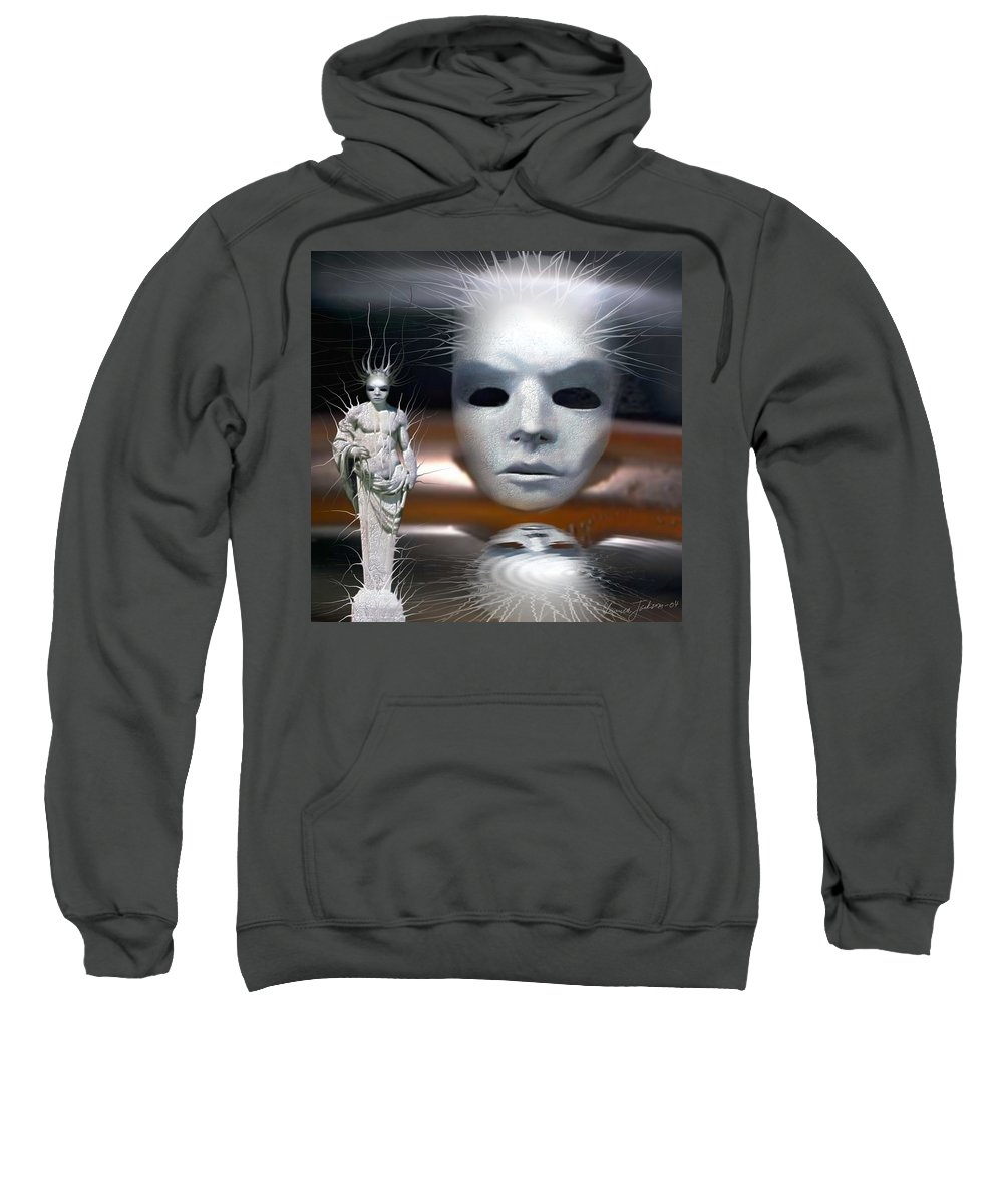 Digital Beauty Eyes Water Sweatshirt featuring the digital art Beauty Is Invisible To The Eye. by Veronica Jackson