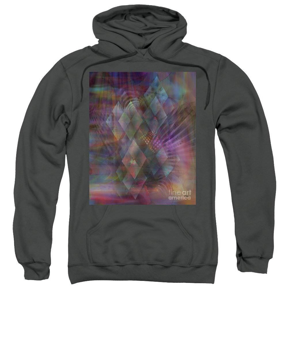 Bedazzled Sweatshirt featuring the digital art Bedazzled by John Beck