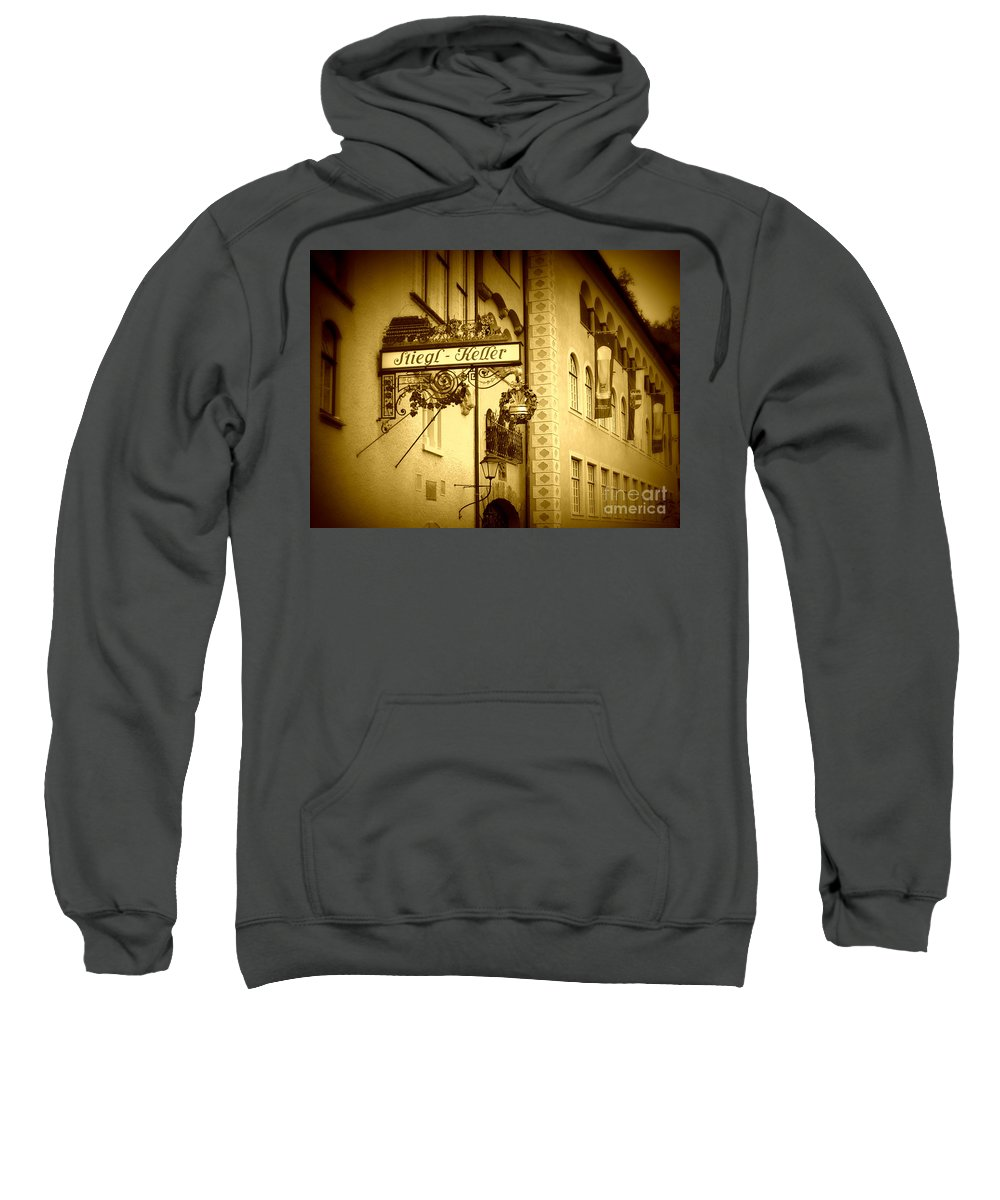 Beer Hall Sweatshirt featuring the photograph Beer Cellar In Salzburg by Carol Groenen