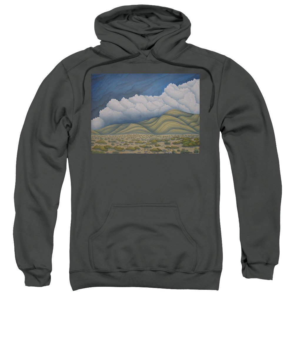 Landscape Sweatshirt featuring the painting Before The Rain by Jeniffer Stapher-Thomas