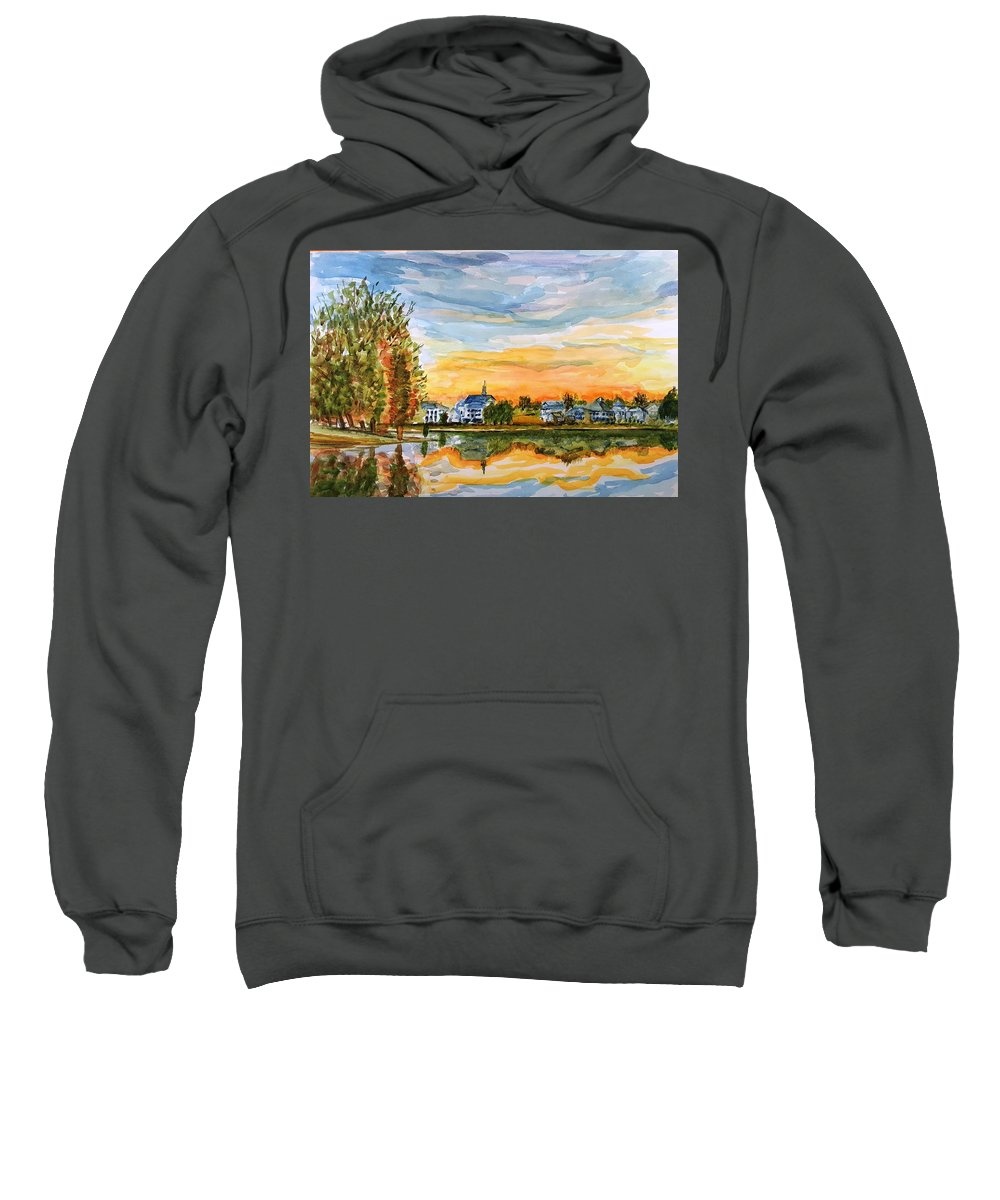 Sunset Sweatshirt featuring the painting Before The Stars by Steve Duke - Artist