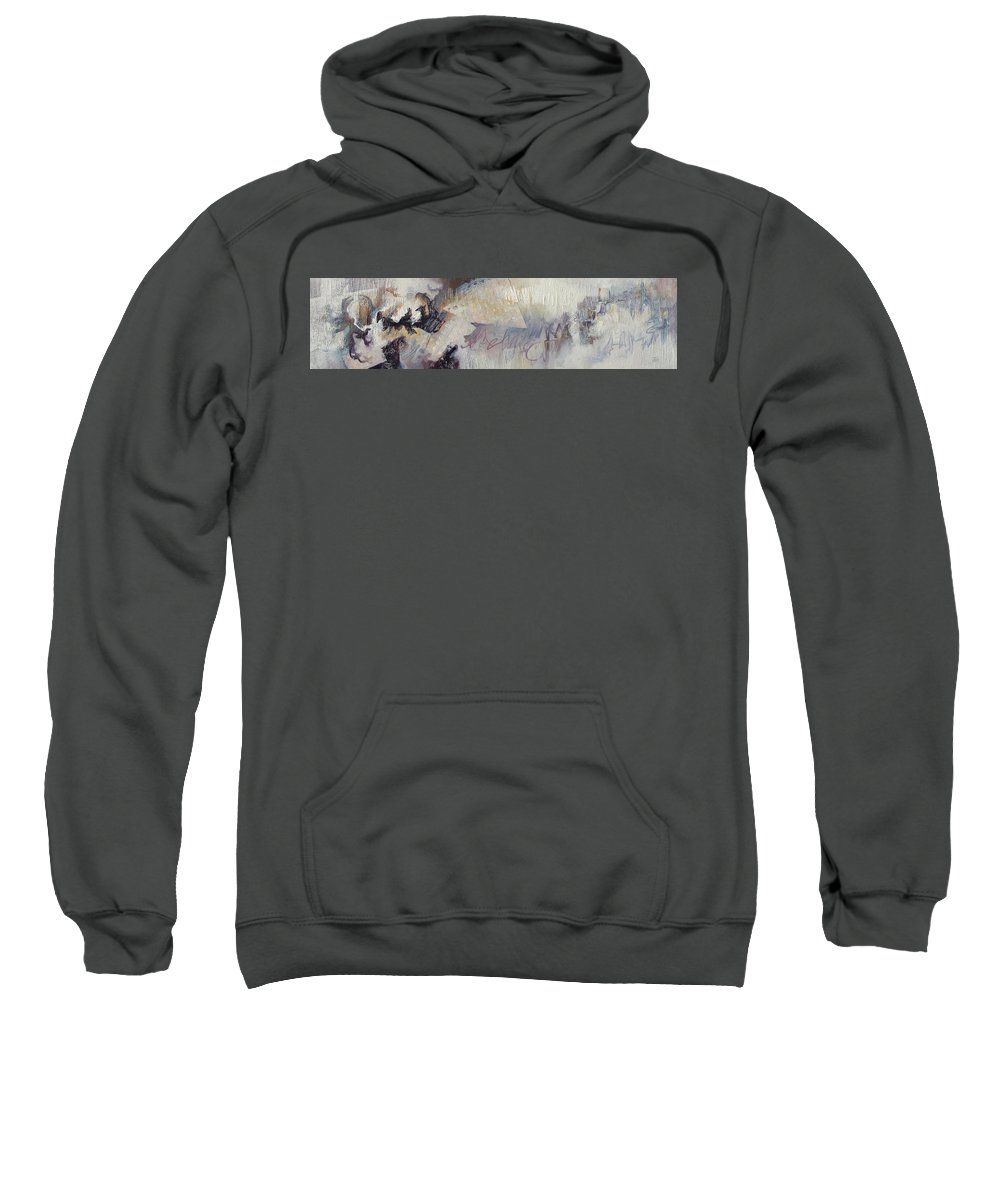 Abstract Sweatshirt featuring the painting Before You Go by Thyra Moore