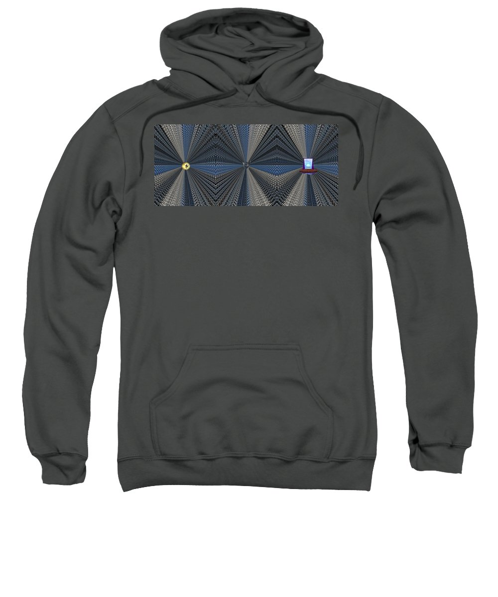 Abstract Sweatshirt featuring the digital art Behind Door Number 3 by Tim Allen