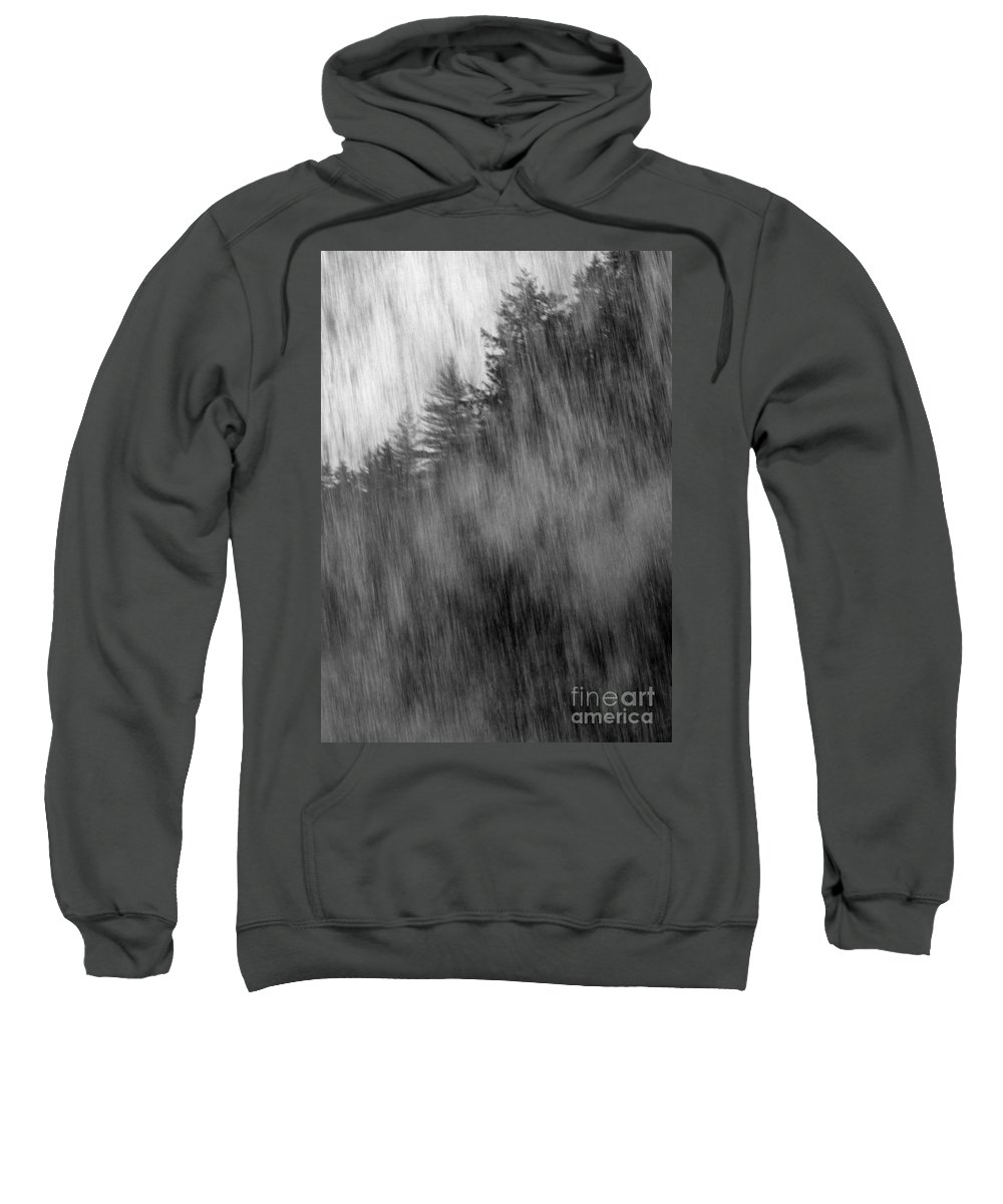 Waterfalls Sweatshirt featuring the photograph Behind The Falls by Richard Rizzo