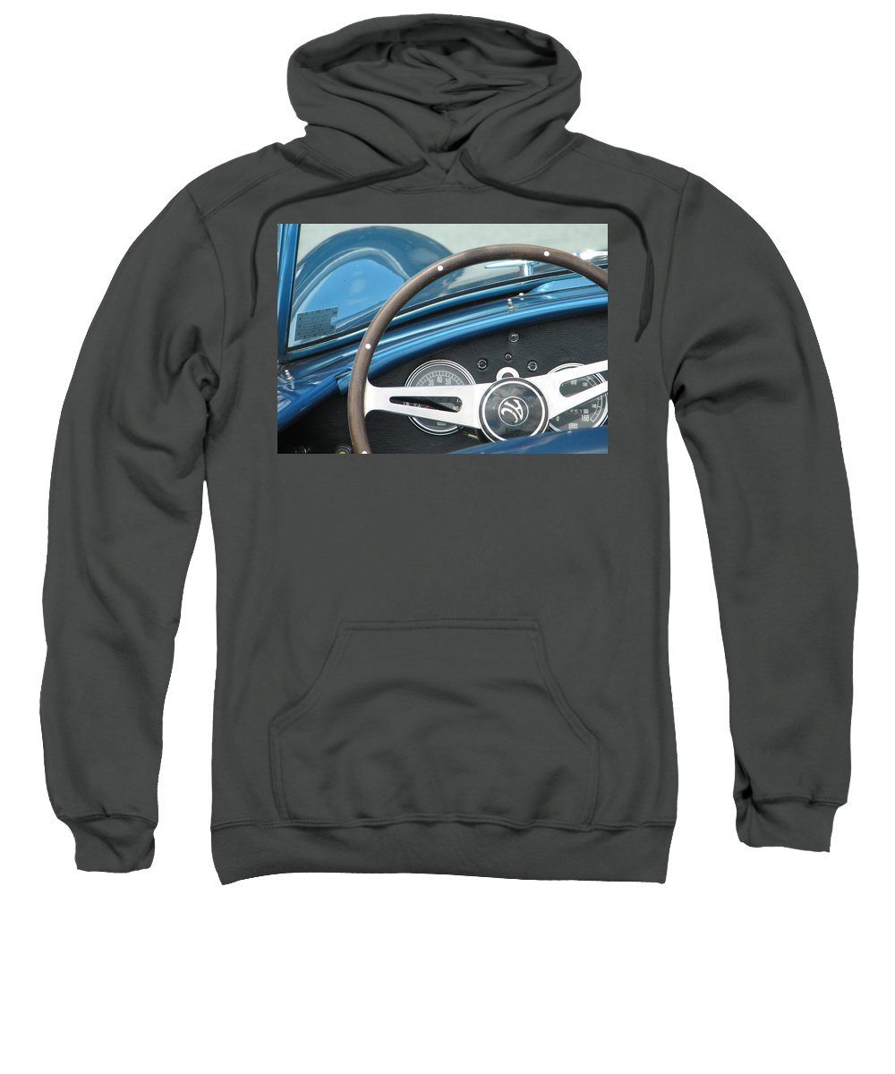 Cobra Sweatshirt featuring the photograph Behind The Wheel by Kelly Mezzapelle
