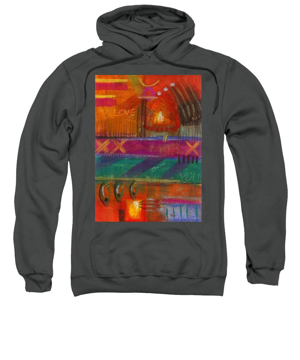 Love Sweatshirt featuring the painting Being In Love by Angela L Walker