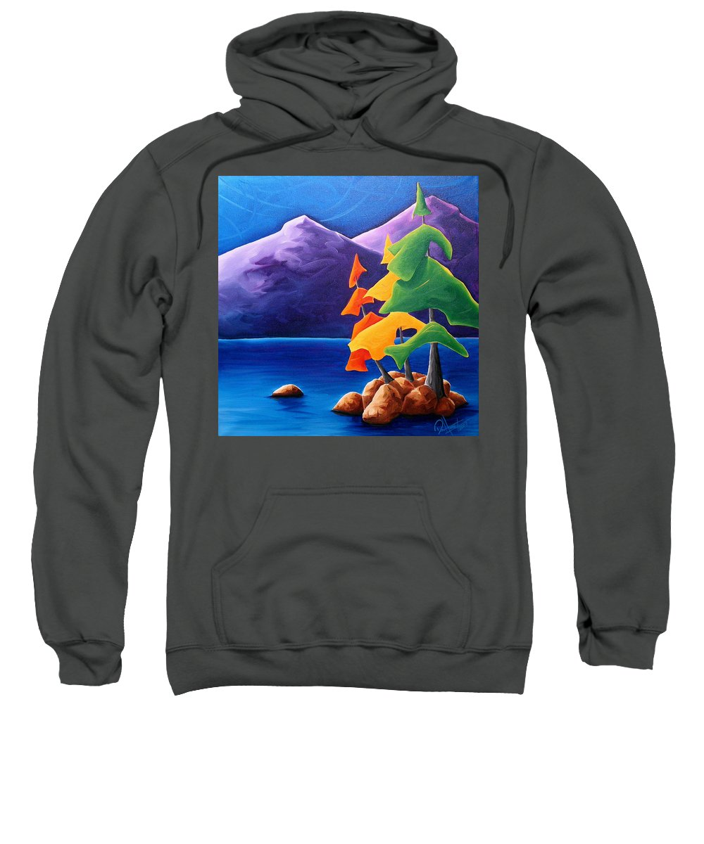 Landscape Sweatshirt featuring the painting Being Thankful by Richard Hoedl