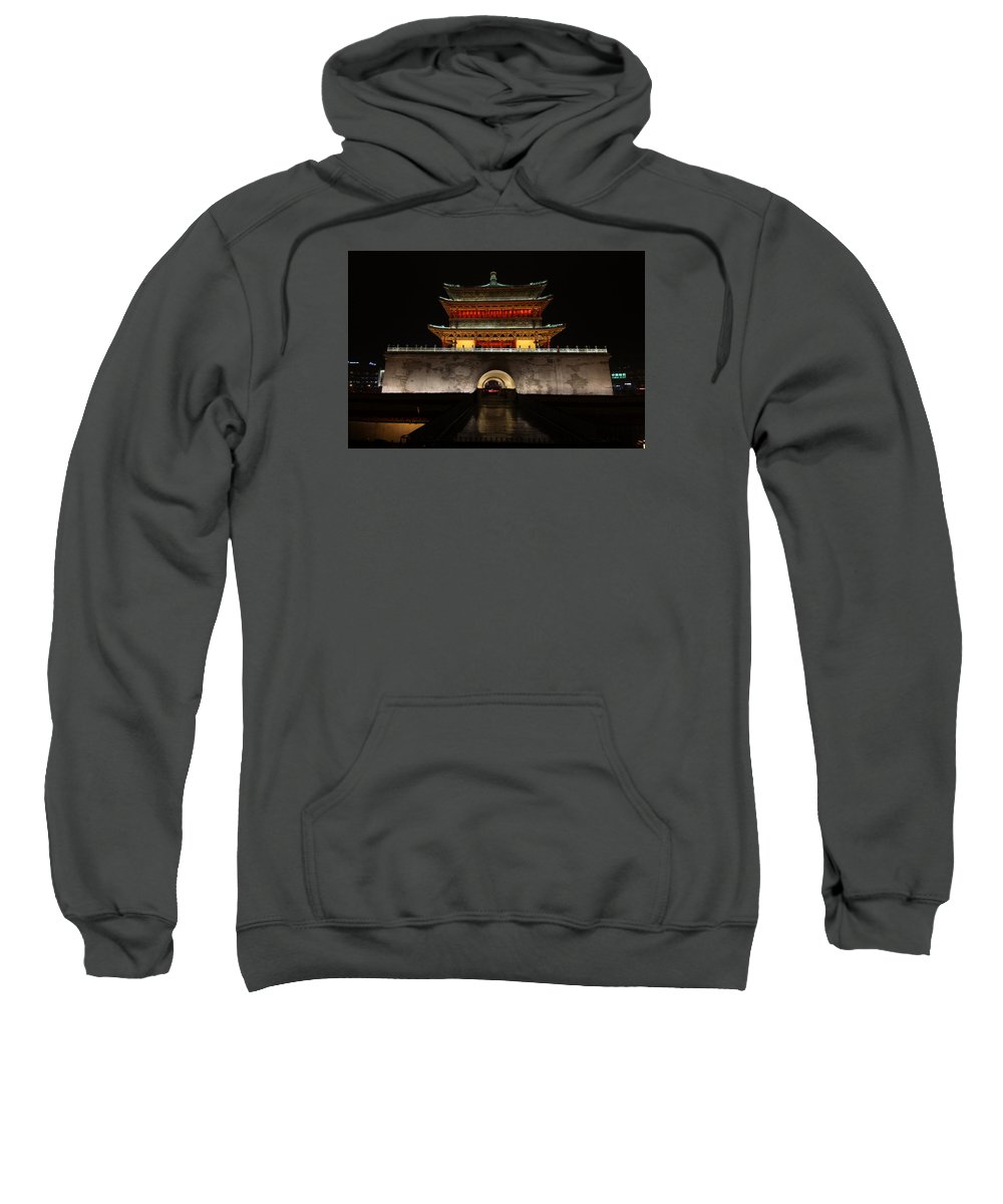 Bill Joseph Sweatshirt featuring the photograph Bell Tower Of Xi'an by William Joseph