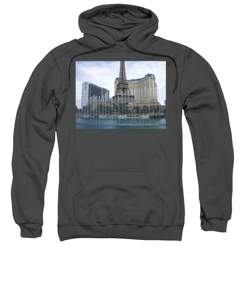 Bellagio Fountain Sweatshirt featuring the photograph Bellagio Fountain 1 by Anita Burgermeister
