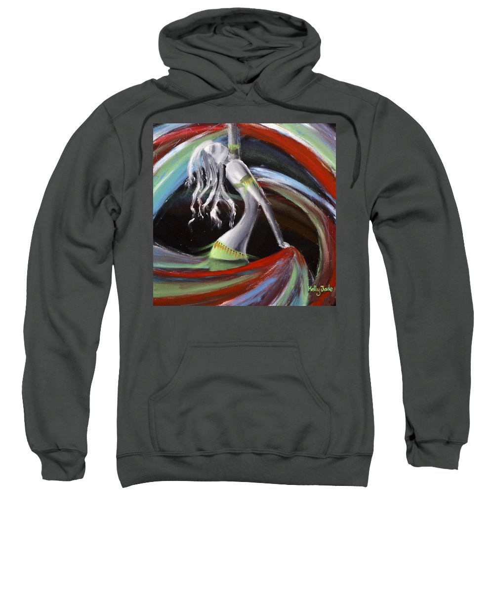 Colourful Sweatshirt featuring the painting Belly Dancer by Kelly Jade King