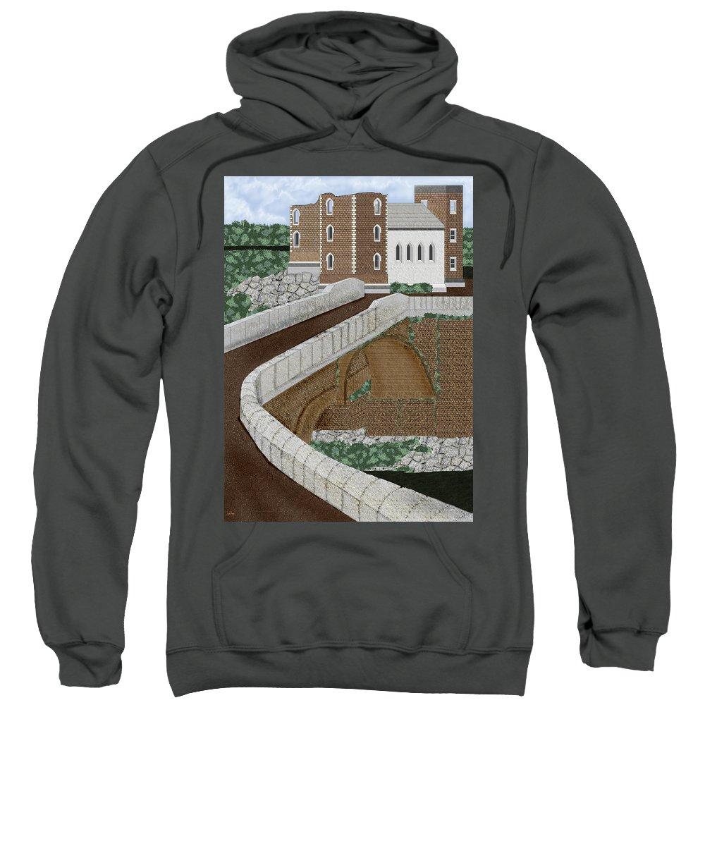 Castle Ruins Sweatshirt featuring the painting Beloved Ruins by Anne Norskog