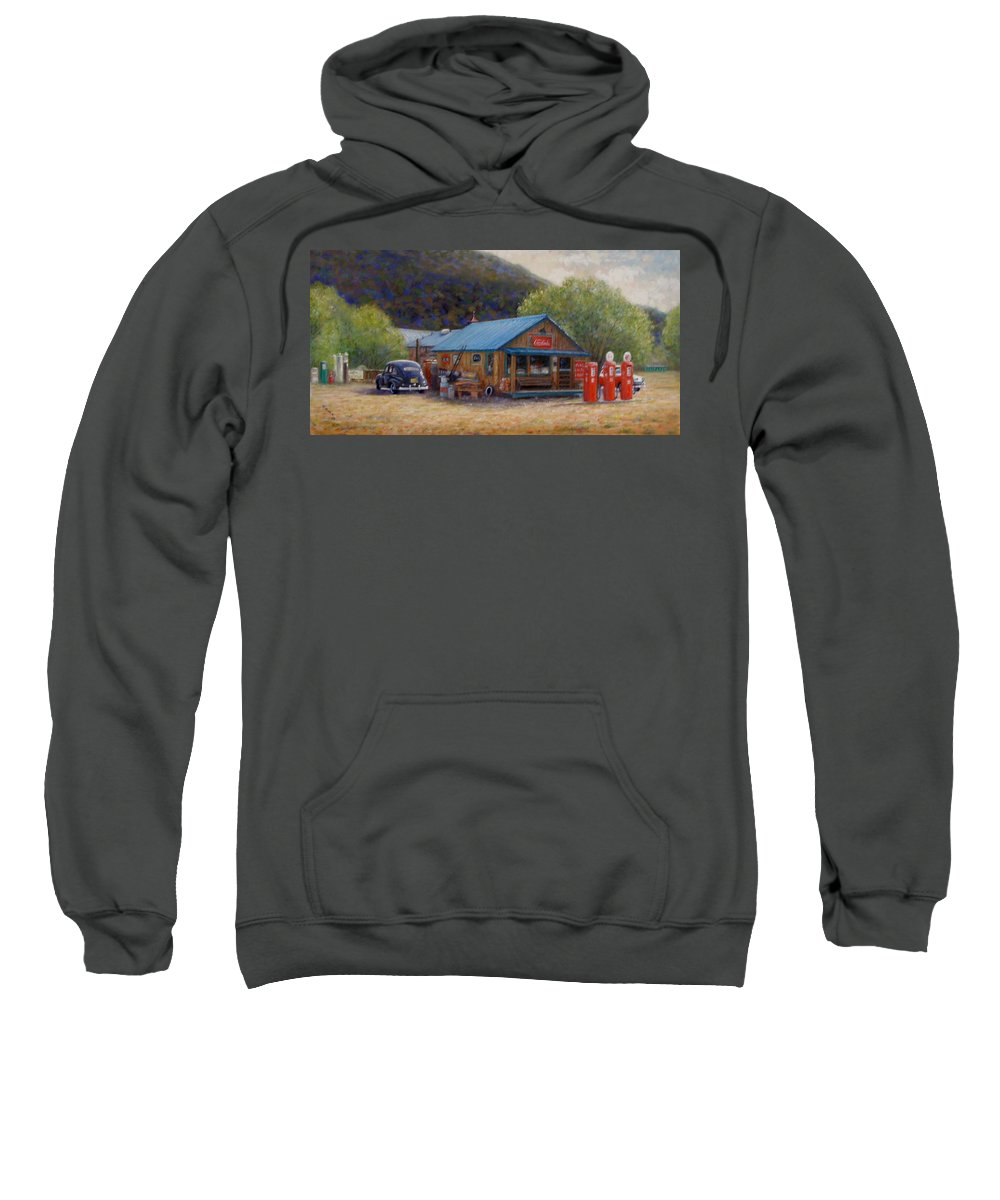 Realism Sweatshirt featuring the painting Below Taos 2 by Donelli DiMaria