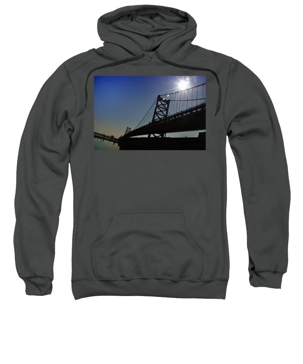 Philadelphia Sweatshirt featuring the photograph Ben Franklin Bridge 2 by Bill Cannon
