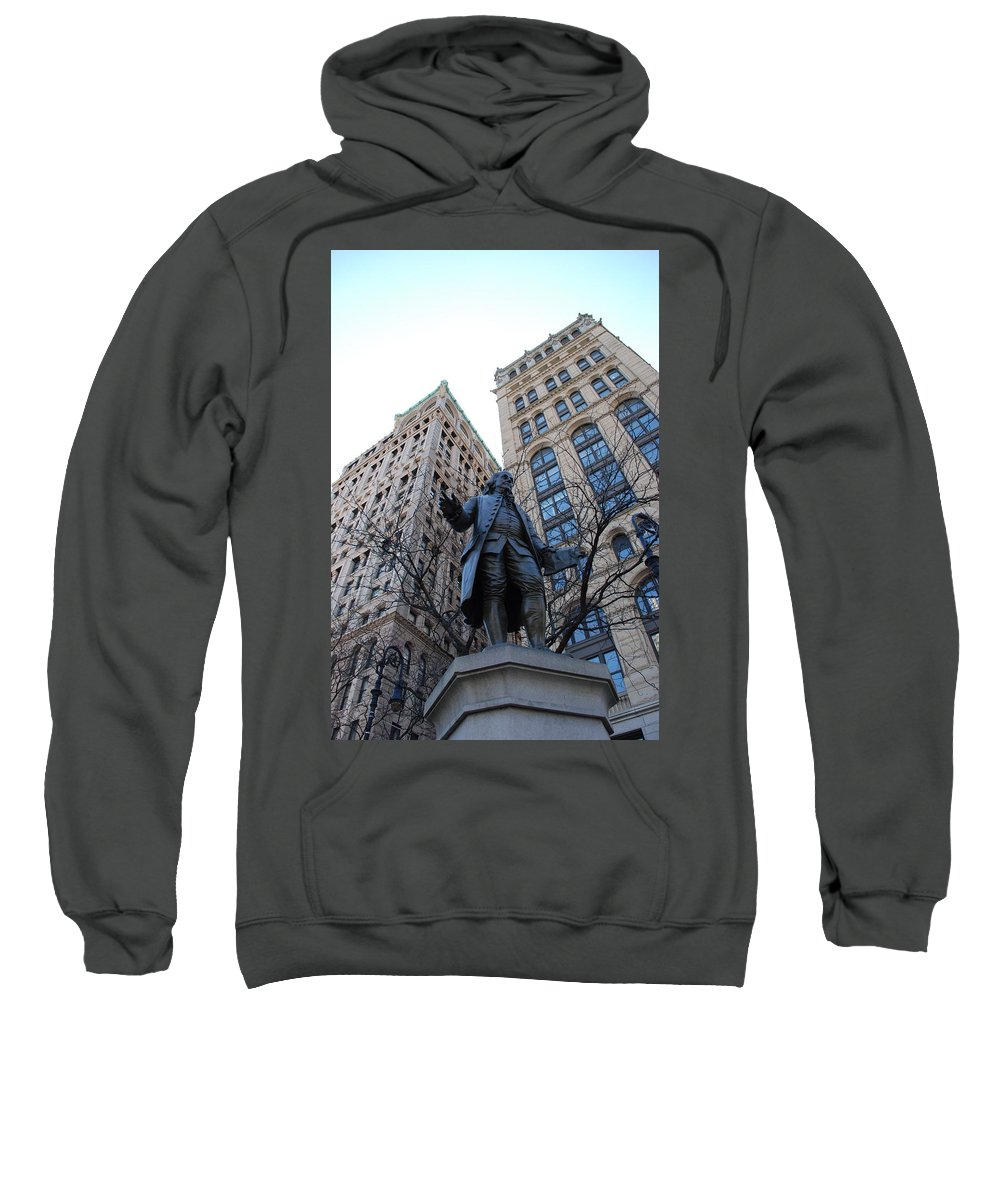Architecture Sweatshirt featuring the photograph Ben Franklin by Rob Hans