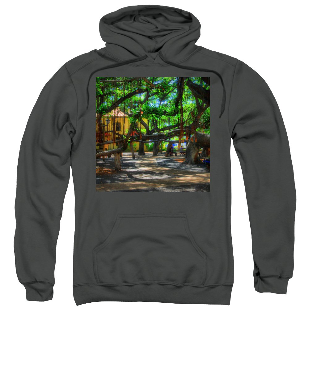 Djphoto Sweatshirt featuring the photograph Beneath The Banyan Tree by DJ Florek
