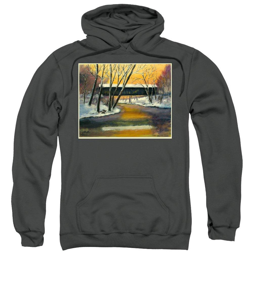 Kentucky Sweatshirt featuring the painting Bennett by Gail Kirtz