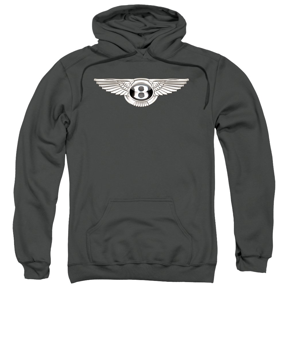 Wheels Of Fortune� Collection By Serge Averbukh Sweatshirt featuring the photograph Bentley 3 D Badge On Red by Serge Averbukh