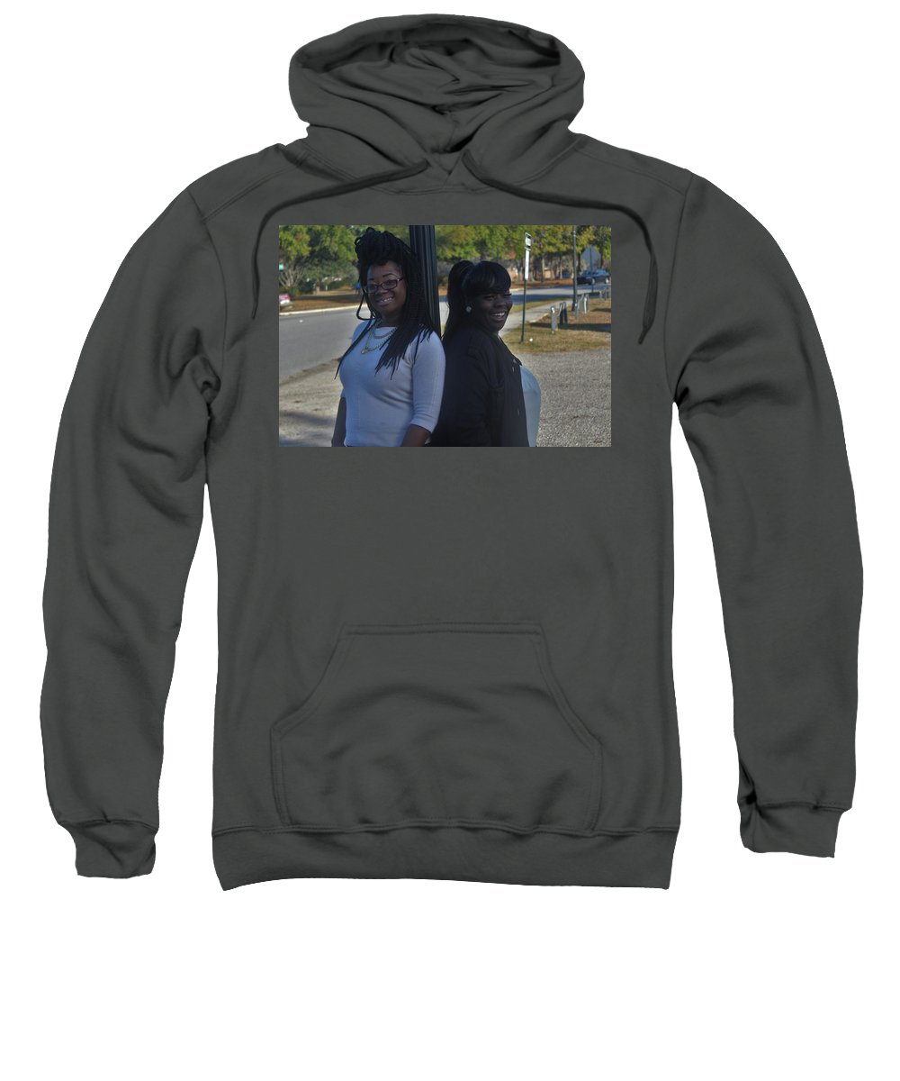 Ebony Sweatshirt featuring the photograph Best Friends 8 by Christopher White