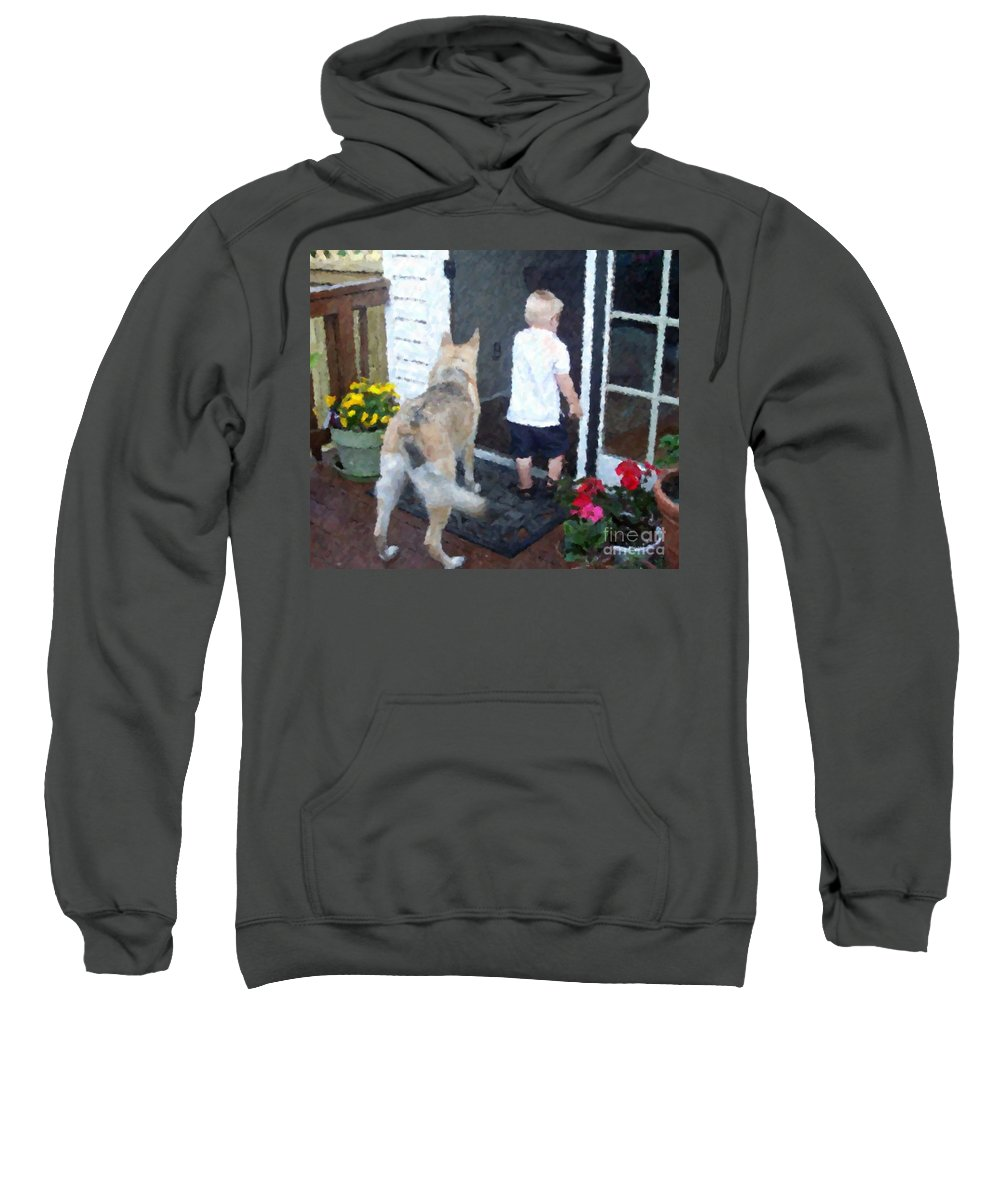 Dogs Sweatshirt featuring the photograph Best Friends by Debbi Granruth