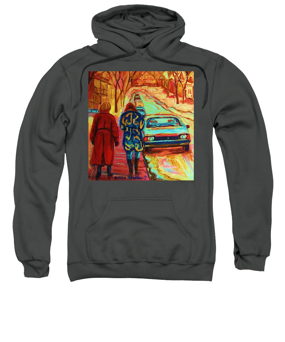 Inspirational Sweatshirt featuring the painting Best Friends Forever by Carole Spandau