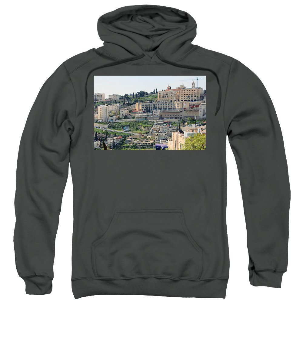 Spring Sweatshirt featuring the photograph Bethlehem In Spring by Munir Alawi
