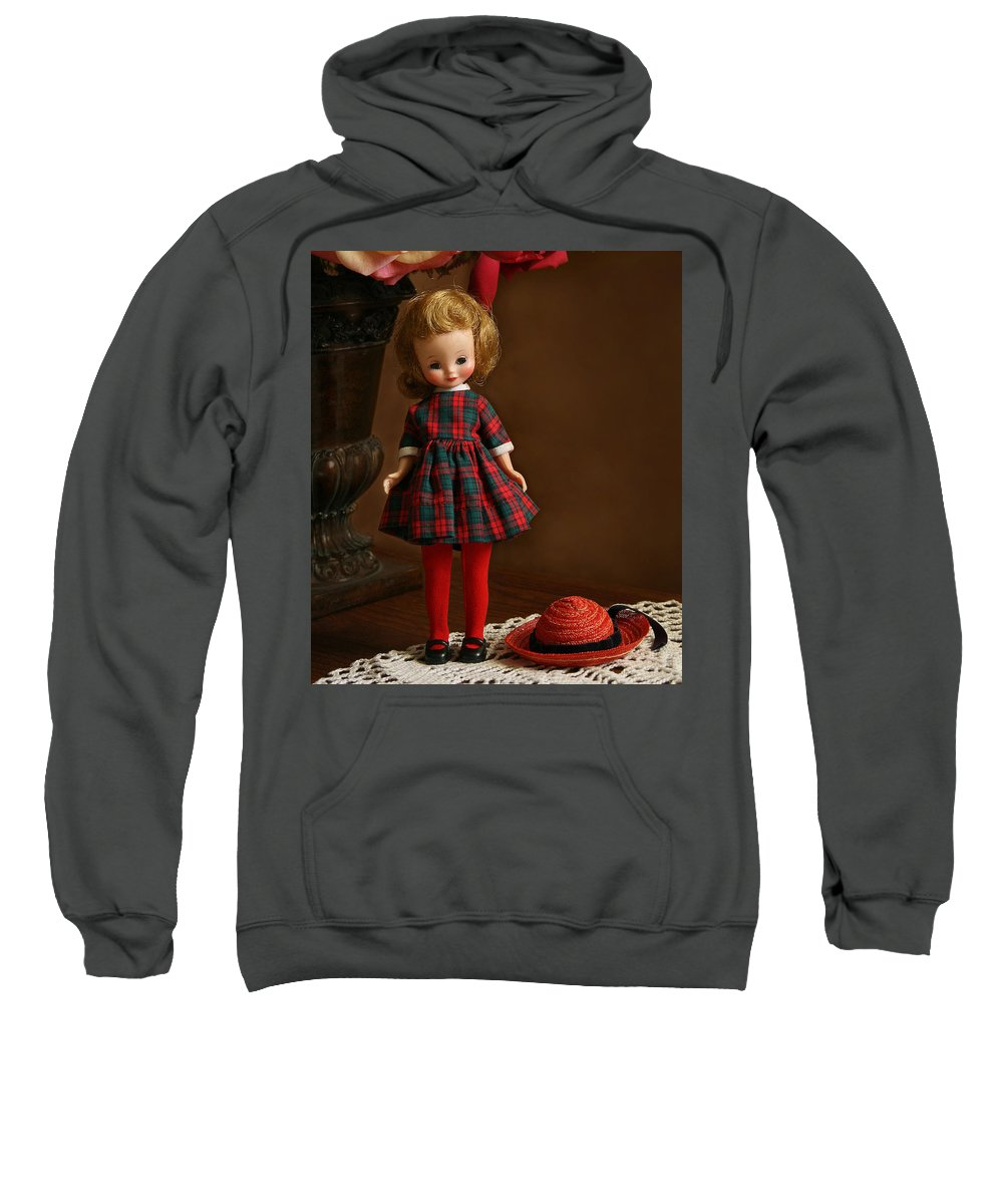 Betsy Sweatshirt featuring the photograph Betsy In Plaid by Marna Edwards Flavell