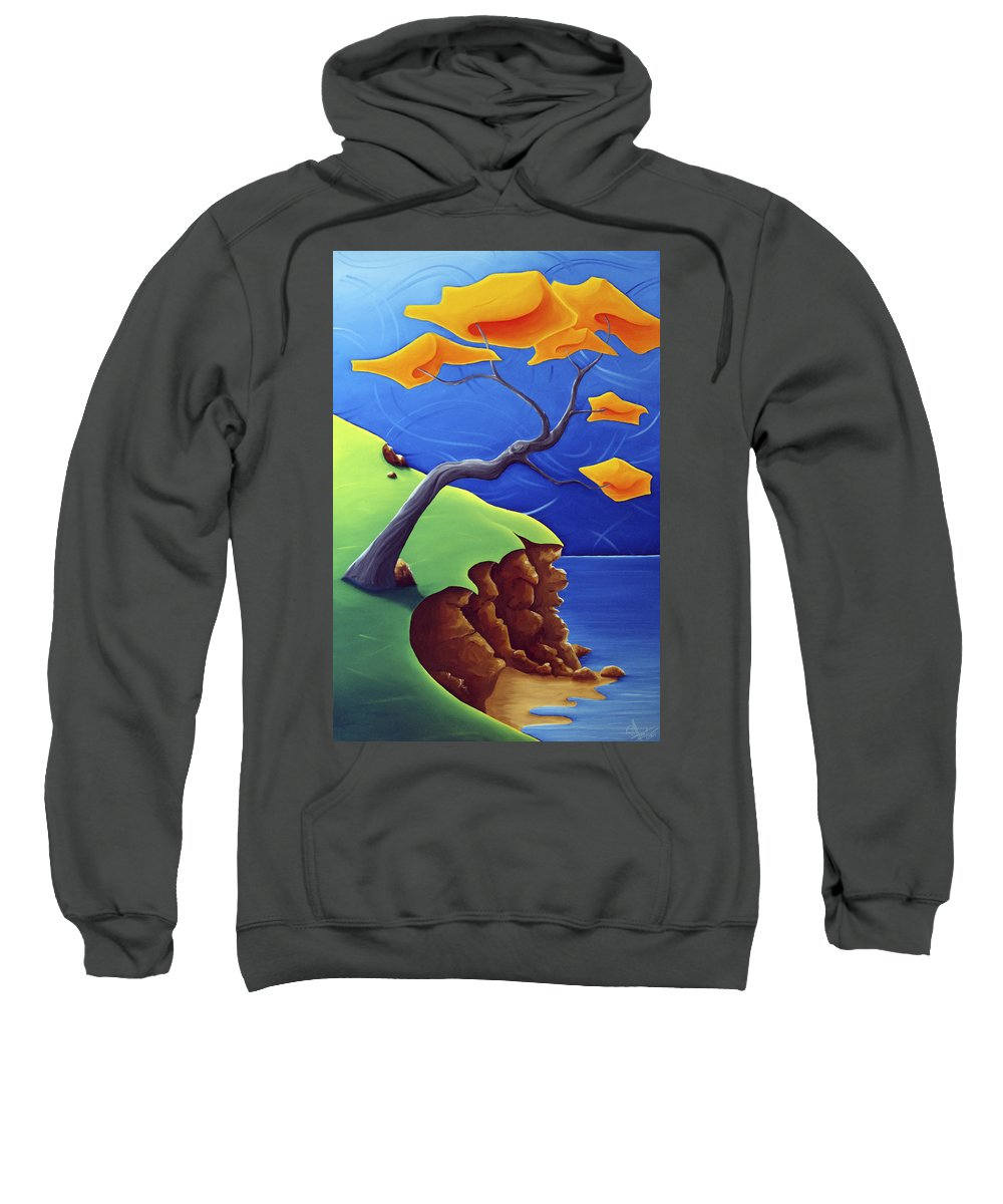 Landscape Sweatshirt featuring the painting Beyond Limitations by Richard Hoedl