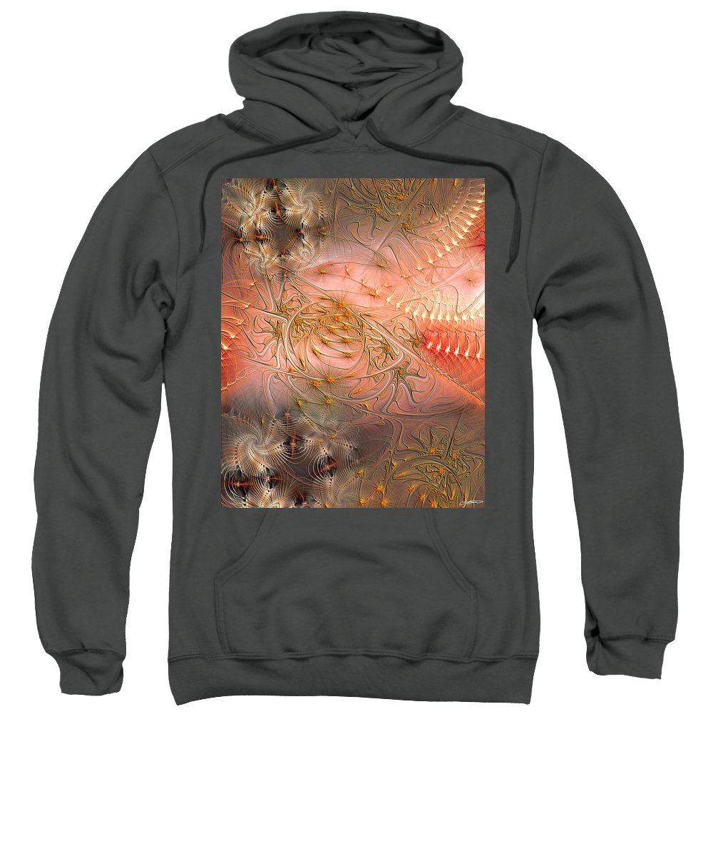 Abstract Sweatshirt featuring the digital art Beyond Solipsism by Casey Kotas