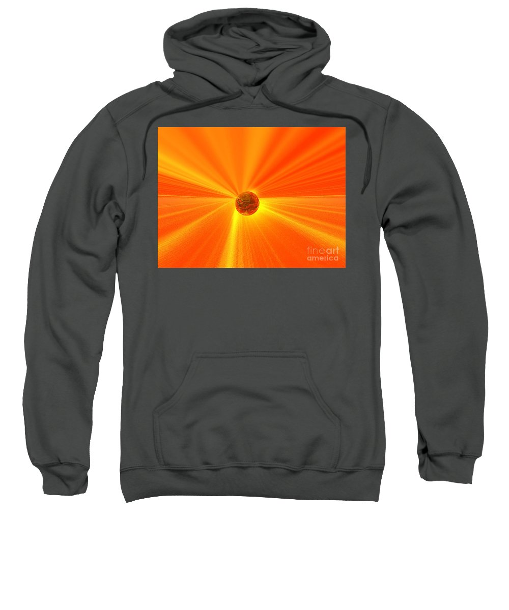 Wisdom Sweatshirt featuring the digital art Beyond Wisdom by Oscar Basurto Carbonell