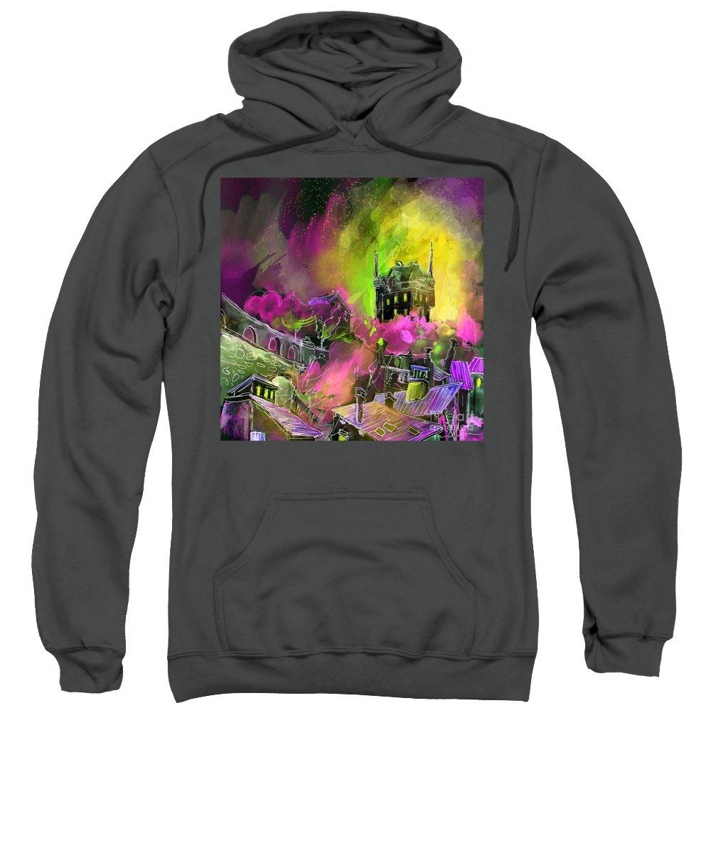 Biarritz Sweatshirt featuring the painting Biarritz 14 Bis by Miki De Goodaboom
