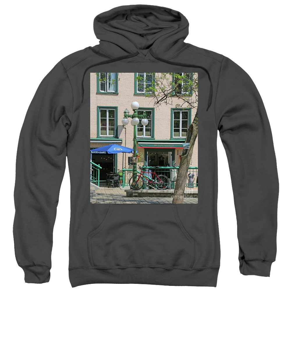 Bicycle Sweatshirt featuring the photograph Bicycle And Lamppost 6417 by Jack Schultz