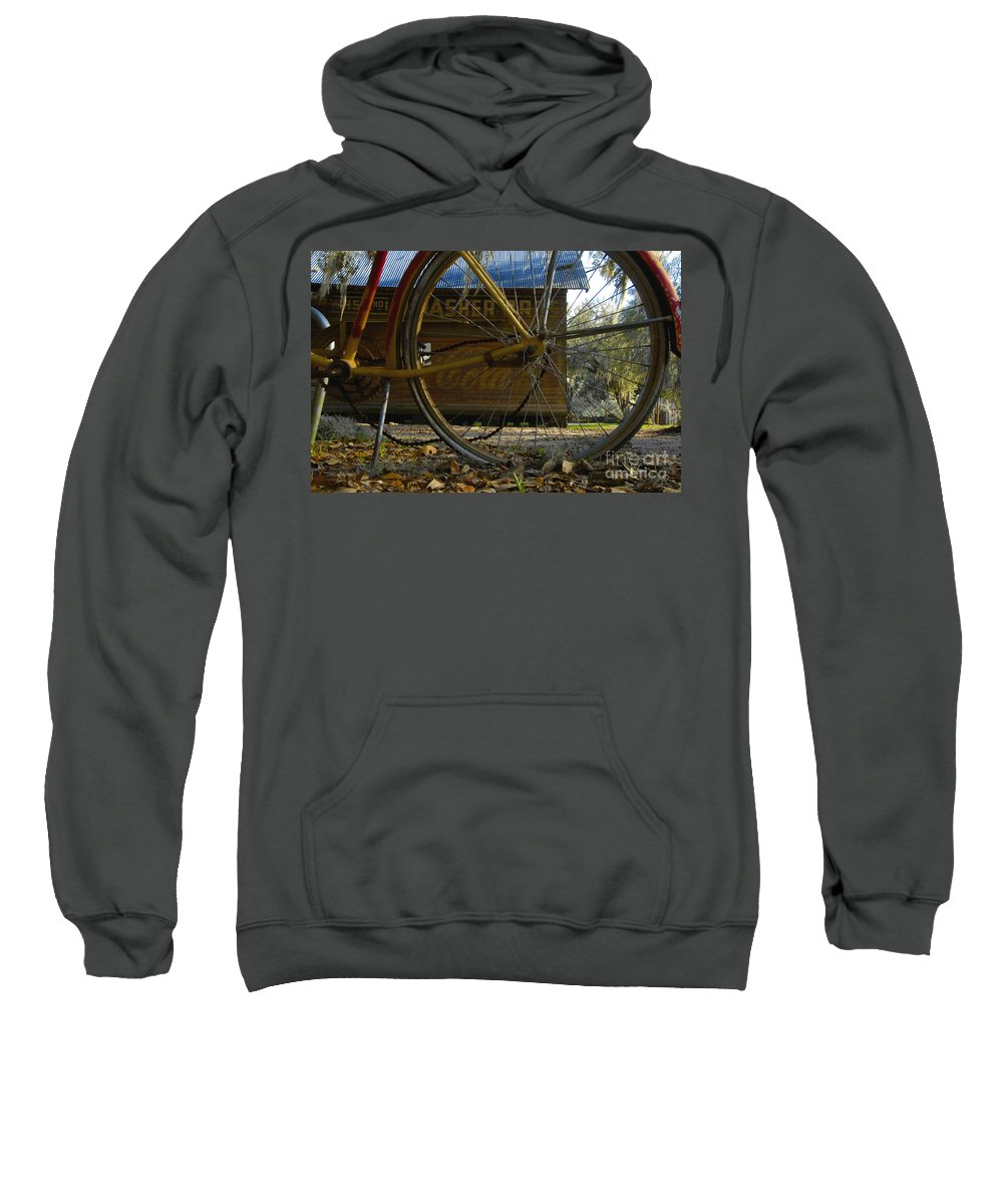 Bicycle Sweatshirt featuring the photograph Bicycle At Micanopy by David Lee Thompson