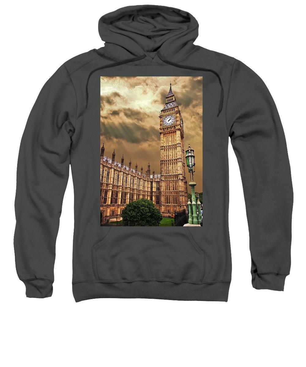 Big Ben Sweatshirt featuring the photograph Big Ben's House by Meirion Matthias