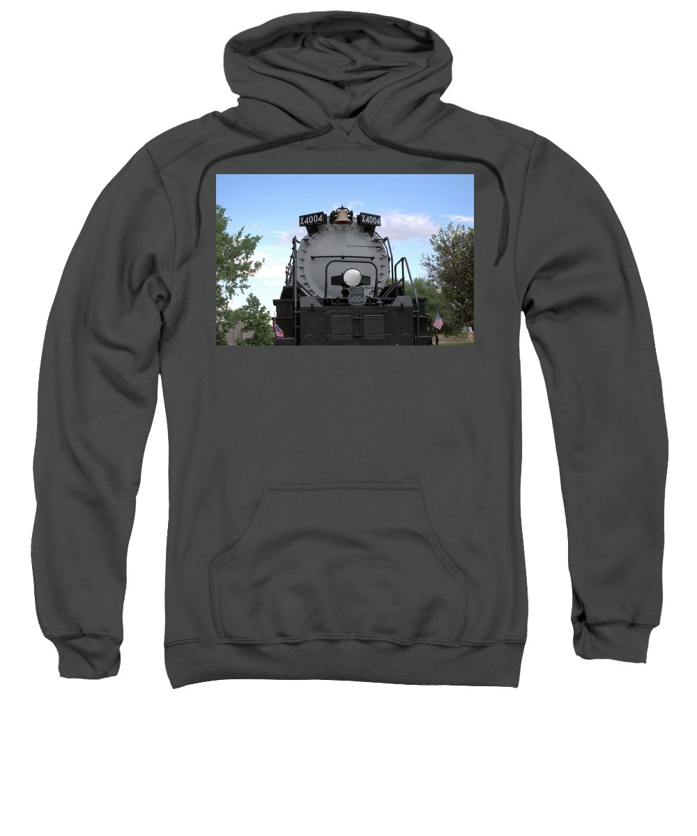 Steam Sweatshirt featuring the photograph Big Boy Front by Wendy Fox