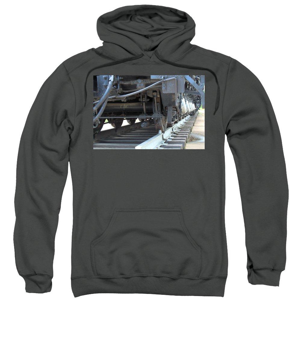 Steam Sweatshirt featuring the photograph Big Boy Wheels by Wendy Fox