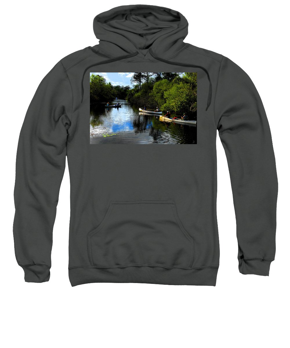 Big Cypress National Preserve Florida Sweatshirt featuring the painting Big Cypress Outing by David Lee Thompson