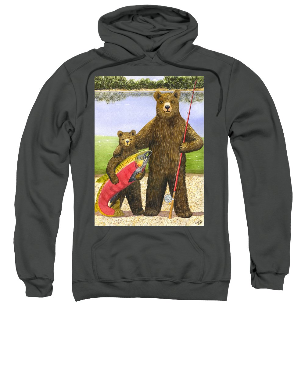 Bear Sweatshirt featuring the painting Big Fish by Catherine G McElroy
