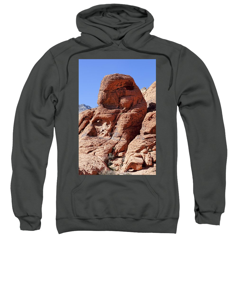 Rocks Sweatshirt featuring the photograph Big Red by Kelley King