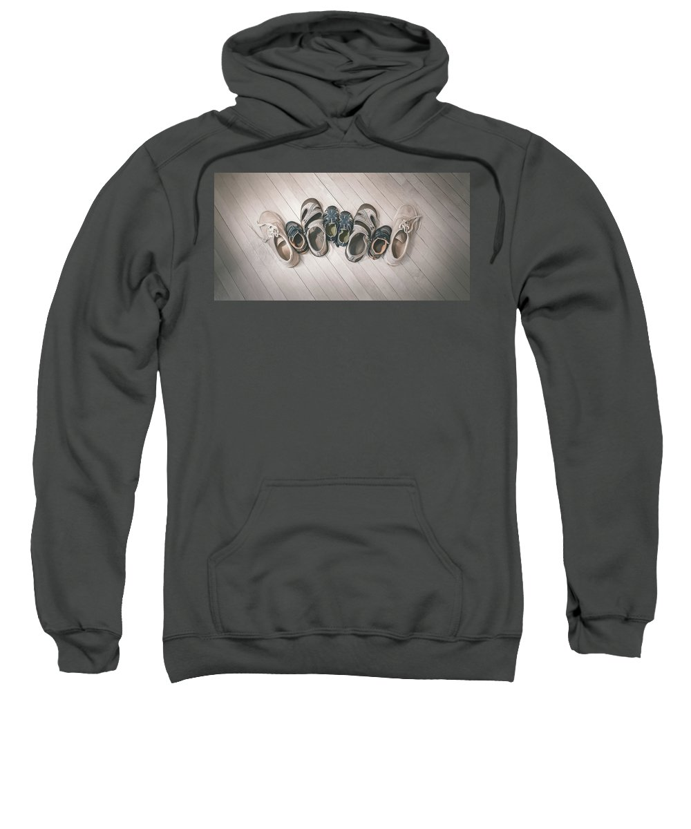 Shoes Sweatshirt featuring the photograph Big Shoes To Fill by Scott Norris