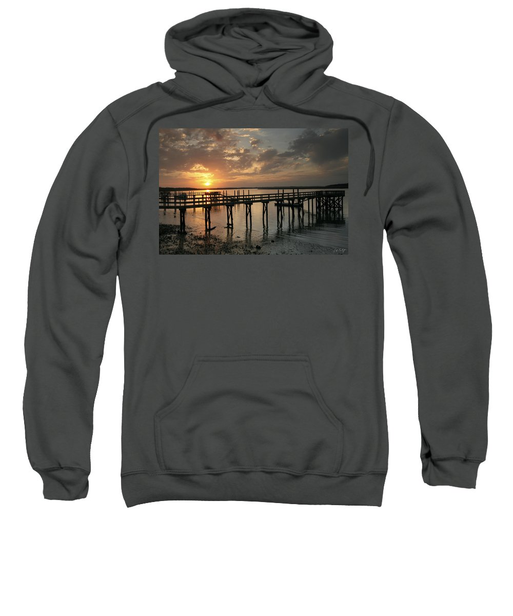 Sunset Sweatshirt featuring the photograph Big Sky by Phill Doherty