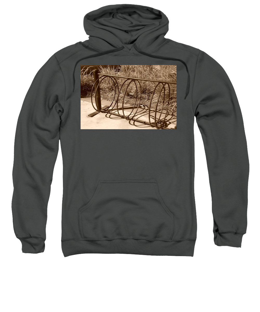 Bicycle Sweatshirt featuring the photograph Bike Rack by Rob Hans